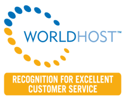 WorldHost recognition for excellent customer service